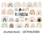 childish rainbow collection...   Shutterstock .eps vector #1870463080