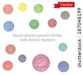 hand drawing pencil circles... | Shutterstock .eps vector #187048199