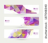 set of vector banners with... | Shutterstock .eps vector #187048340