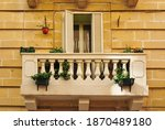 Balcony With Columns In...