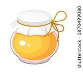 honey in jar with paper top...