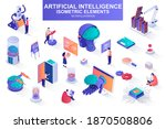 artificial intelligence bundle... | Shutterstock .eps vector #1870508806