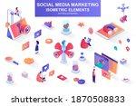 social media marketing bundle... | Shutterstock .eps vector #1870508833