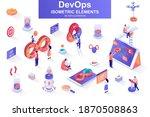 devops bundle of isometric... | Shutterstock .eps vector #1870508863