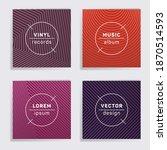 vintage vinyl records music...   Shutterstock .eps vector #1870514593