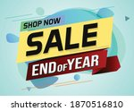 end of year sale word concept...