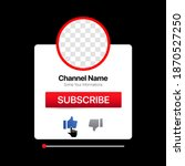 youtube profile interface.... | Shutterstock .eps vector #1870527250
