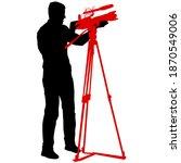 cameraman with video camera.... | Shutterstock . vector #1870549006