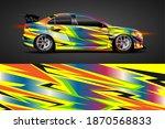 vehicle vinyl wrap design with... | Shutterstock .eps vector #1870568833