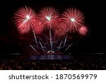 colorful fireworks in pattaya... | Shutterstock . vector #1870569979