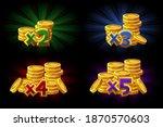 vector illustration of bonus x2 ...   Shutterstock .eps vector #1870570603