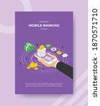 finance mobile banking hand...   Shutterstock .eps vector #1870571710