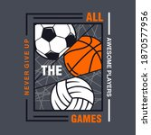 all the games  all sports ... | Shutterstock .eps vector #1870577956