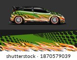 car livery graphic vector with... | Shutterstock .eps vector #1870579039