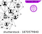 social network icon  people...   Shutterstock .eps vector #1870579840