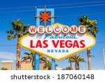 las vegas sign. welcome to... | Shutterstock . vector #187060148
