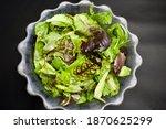 Mixed Fresh Green Meat Salad....