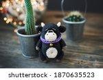 Handmade Knitted Toy. Amigurumi....
