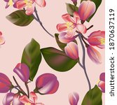 seamless floral pattern in... | Shutterstock .eps vector #1870637119