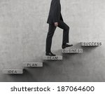 businessman going up. | Shutterstock . vector #187064600