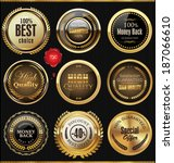 premium quality badges and... | Shutterstock .eps vector #187066610