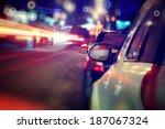 City Car Traffic Jams Night...