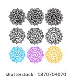 decorative mandala ornament... | Shutterstock .eps vector #1870704070