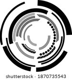 technology circle  lines .... | Shutterstock .eps vector #1870735543