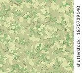 beige seamless military... | Shutterstock .eps vector #1870739140