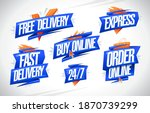 free  fast and express delivery ...   Shutterstock .eps vector #1870739299