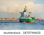 Large Green Bulk Carrier...