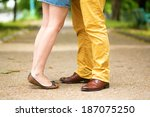 male and female legs during a... | Shutterstock . vector #187075250