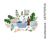 organic and natural cosmetics.... | Shutterstock .eps vector #1870755910