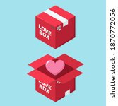 icon red love box with heart.... | Shutterstock . vector #1870772056