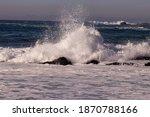 Crashing Waves At Carmel Beach