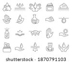 skin care icons. outline anti... | Shutterstock .eps vector #1870791103