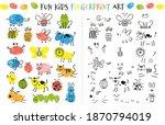 fingerprint game for kids. fun... | Shutterstock .eps vector #1870794019