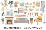 scandinavian furniture. cozy...   Shutterstock .eps vector #1870794229