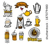 coffee poster | Shutterstock .eps vector #187079480