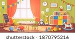 kindergarten interior. daycare... | Shutterstock .eps vector #1870795216