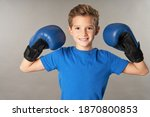 Cute Boy In Boxing Gloves...