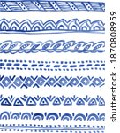 8 watercolor border design...   Shutterstock .eps vector #1870808959