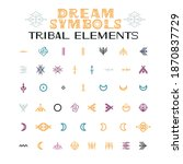 tribal elements of ornaments....   Shutterstock .eps vector #1870837729