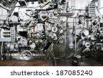 rusty mechanism of banknote... | Shutterstock . vector #187085240