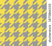 gray and yellow houndstooth... | Shutterstock .eps vector #1870866103