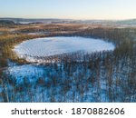 bottomless circle lake in... | Shutterstock . vector #1870882606