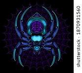 monster spider vector  vector... | Shutterstock .eps vector #1870931560