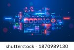 banner about programming or... | Shutterstock .eps vector #1870989130