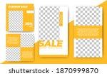 editable square banner template ... | Shutterstock .eps vector #1870999870
