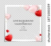 valentines day and love... | Shutterstock .eps vector #1871000359